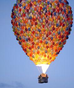 Balloons balloon.. How pretty is that? #Pinterest Hot Air Balloons