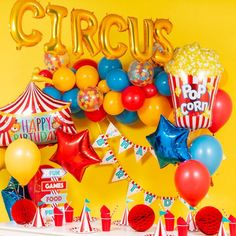 Looking for Circus Party Theme Ideas ? Shop our range of Stylish Circus Party Decorations including this Circus Balloon Garland with Free Delivery Circus Party Games, Circus Party Decorations, Clown Party, Circus Carnival Party, Carnival Birthday Parties, First Birthday Parties, Birthday Party Themes, Circus Wedding, Carnival Costumes