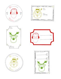 christmas gift tags printable | FREE PRINTABLE CHRISTMAS GIFT TAG SET – pdf