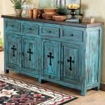 Western turquoise dresser