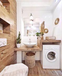 # Bathroom vinyl decor # Bathroom decor ideas small # Bathroom decor and tiles will be … – rustic home interior Laundry Room Design, Laundry In Bathroom, Small Bathroom, Bathroom Shelves, Bathroom Ideas, Bathroom Vinyl, Laundry Rooms, Bathroom Storage, Small Laundry