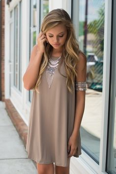 Mocha t shirt dress #swoonboutique