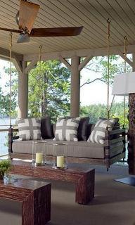 Charming Porch Swing Idea 78