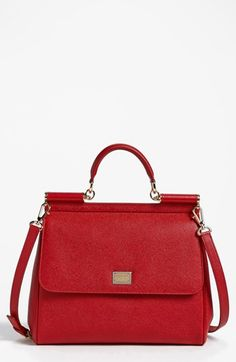 Dolce 'Miss Sicily' Top Handle Leather Satchel available at #Nordstrom