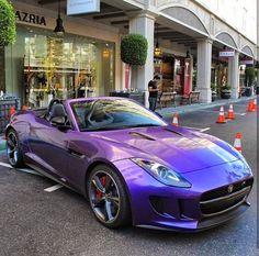 Fab Custom Purple Jaguar F Type