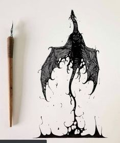 Ink Illustrations, Art Drawings Sketches, Tattoo Drawings, Dragon Tattoo Drawing, Dragon Sleeve Tattoos, Stylo Art, Dragon Illustration, Dragon Sketch, Dragons