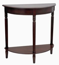 Half-Round Wooden Console Table