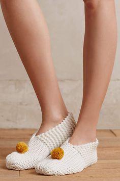 Pommed Slipper Socks - anthropologie.com
