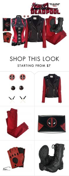 """""""Deadpool"""" by daynalynnae ❤ liked on Polyvore featuring IRO, Comptoir Des Cotonniers, Marvel Comics, Soda, women's clothing, women, female, woman, misses and juniors"""