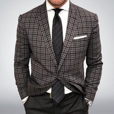 Pencil Stripe Wool Tie in Charcoal Gray - Look exceedingly charming and dapper in your Winter Workwear this season by donning this terrifically stylish Pencil Stripe Wool Tie Wool Tie, Knit Tie, Mens Sport Coat, Sport Coats, Look Good Feel Good, Classy Men, Mens Fashion, Fashion Outfits, Suit And Tie