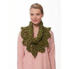 Loopy Edge Finger Crochet Cowl