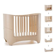 Leander Baby Bed & Mattress In Whitewash - Babies Cots & Furniture | C