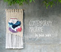 Modern macrame wall hanging / contemporany macrame / tapestry / weaving by RanranDesign on Etsy