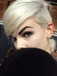 marc-jacobs-hair-makeup-spring-2013.jpg #nyfw. Edie Sedwick inspired hair & makeup, Andy Warhol's muse. MUA Francois Nars