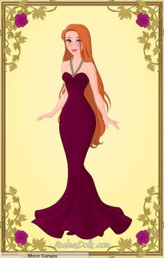 Based/inspired by the Disney Store's range of Designer Villain dolls. A glamorous Ms De Vil in red carpet attire? Disney Fan Art, Arte Disney, Disney Love, Disney Artwork, Giselle Enchanted, Disney Enchanted, Azalea Dress Up, Disney Princess Fashion, Purple Gowns