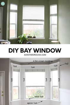 Diy Bay Window Trim Turning Our Cookie Cutter House Into A Unique Home