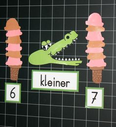 Elli, the Eroded Crocodile Today I want to share with you an idea for math class. Two years ago I introduced the topic … by anja_moeller_fr Preschool Math, Kindergarten Classroom, Kindergarten Activities, Learning Activities, Kids Learning, Primary Education, Kids Education, Primary School, Pre School