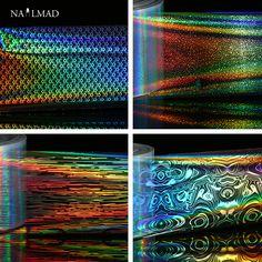 1 rollo 4*100 cm Láser Holográfico Nail Láminas de Escamas de Pescado de Uñas Hoja Transferencia Arte Cielo Estrellado Etiqueta De Transferencia papel