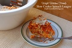Easy Spinach Lasagna in the Slow Cooker