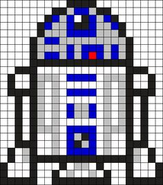 R2 D2 Perler Bead Pattern / Bead Sprite
