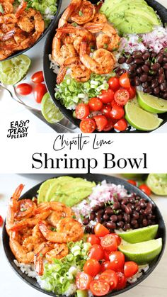 Chipotle Lime Shrimp Bowls bring the flavor all year year long. Great for grilling or cooked in a skillet. Mix it up for Taco Tuesday or Cinco De Mayo. Healthy Meal Prep, Healthy Eating, Healthy Recipes, Salad Recipes, Clean Eating Recipes, Cooking Recipes, Smoker Recipes, Rib Recipes, Cooking Tips