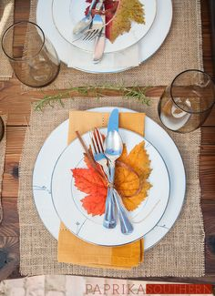A styled #Thanksgiving place-setting #rustic #fall #southern