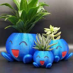 Large Planters, Planter Pots, Gamer Gifts, Pokemon Fan, Small Plants, Cool Paintings, 3d Printing, Cactus, Succulents