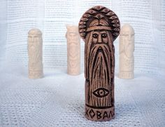 Handmade Eco Friendly Ceramic Clay Figurine Brown Home Decor Slavic Statuette | eBay