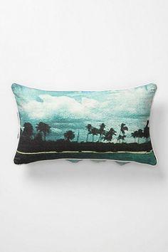 palm trees pillow - love color