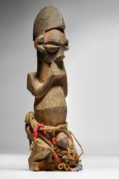 Lot n°111  Yaka Figure Congo, Belgium, Nativity, Buddha, Auction, Statue, Art, Collection, Art Background