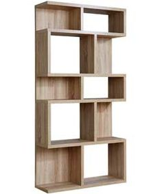 Astounding Oak Wood Shelving Unit With Brown Paint | Furniture ...