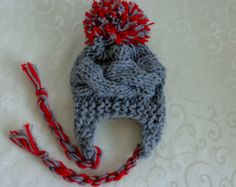 Baby Girl Hats Newborn Hats Baby Girl Knit Hats от PrettyBagsByMia