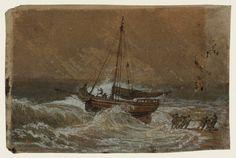 Joseph Mallord William Turner 'A Fishing Boat Being Hauled Ashore', 1796–7
