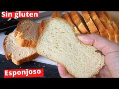 Pan de Molde Sin gluten y Sin lactosa (Extremadamente Fácil) - YouTube Pan Sin Gluten, Pan Integral, Gluten Free Recipes, Free Food, Cooking Recipes, Keto, Youtube, Breads, Vegetarian