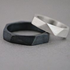 Wedding Jewelry – Page 16 – Finest Jewelry Black Wedding Rings, Sterling Silver Wedding Rings, Wedding Rings Simple, Custom Wedding Rings, Wedding Ring Designs, Wedding Rings For Women, Black Rings, Wedding Jewelry, Rings For Men