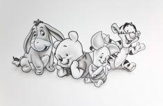 Unique and Creative Pooh Babys, which means that schattige babyvariant van de bekende Winnie-the-Pooh's image. - Pretty Pooh Babys, which means that sc. Cute Disney Drawings, Cartoon Drawings, Cute Drawings, Drawing Sketches, Disney Drawings Sketches, Drawing Disney, Tattoo Sketches, Whinnie The Pooh Drawings, Winnie The Pooh Tattoos