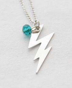 Lightning Bolt Necklace Silver Lightning Necklace Lightning Charm Lightning Bolt Jewelry Thunder Bolt Necklace Silver Lightning Bolt Gifts by SmittenKittenKendall on Etsy