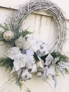 Large Christmas Wreath, Church Christmas Decorations, Christmas Wreaths For Front Door, Beautiful Christmas Decorations, Valentine Day Wreaths, Holiday Wreaths, Christmas Ideas, Etsy Christmas, Holiday Ideas