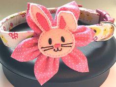 Dog collar Easter dog collar Easter bunny dog by DazzleDoggieCo