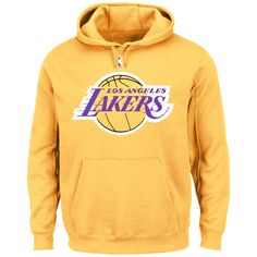 Los Angeles Lakers Majestic Big & Tall Primary Logo Pullover Hoodie - Gold - $51.99
