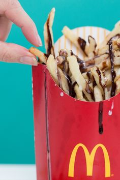 Here's how to get McDonald's chocolate-drizzled french fries in America!