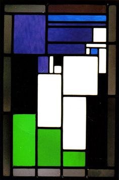 Vrouwenhoofd 1917 by Theo van Doesburg.  Stained-Glass Composition Female Head Kröller-Müller Museum, Otterlo, The Netherlands. Theo van Doesburg (30 August 1883 – 7 March 1931) was a Dutch artist, who practised painting, writing, poetry and architecture. He is best known as the founder and leader of De Stijl.