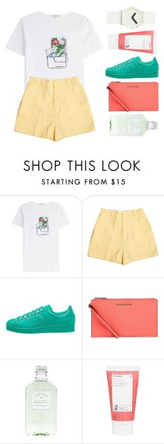 """""""F R I S S O N"""" by dreyanaxo ❤ liked on Polyvore featuring Carven, Retrò, adidas Originals, Michael Kors, Korres and IDEA International"""
