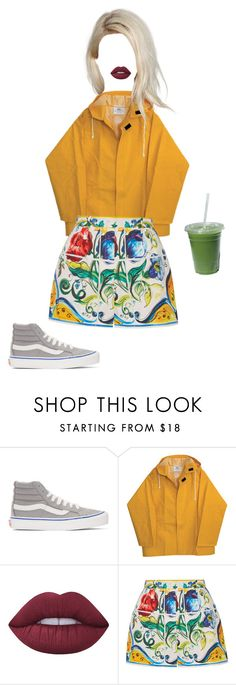 """Untitled #197"" by annika-victoria ❤ liked on Polyvore featuring Vans, Lime Crime and Dolce&Gabbana"