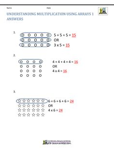 Convert the array into multiplication facts.