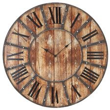 "23"" Wall Clock In Antique"