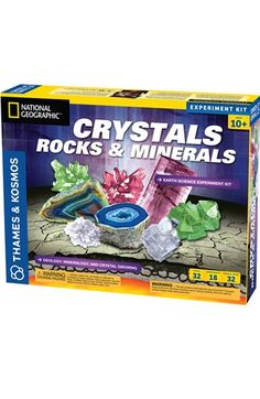Free shipping and returns on Thames & Kosmos Crystal, Rocks & Minerals Experiment Kit at Nordstrom.com. Eighteen projects and experiments will introduce your young scientist to the fascinating science of crystals, minerals and rock formation. She'll grow colorful crystals, build three-dimensional models of their chemical structure and mold her own crystal geodes. A 32-page full-color manual provides instructions.