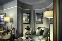Classic Contemporary Junior Suite Seating Area Interior Design of The Grande Colonial Hotel La Jolla, California