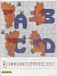 Winnie the Pooh alphabet 1 of 8