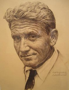 Portrait of Spencer Tracy (Norman Rockwell)